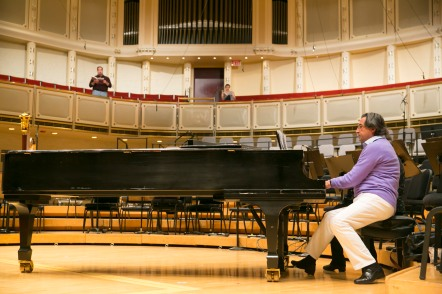 Music Director Riccardo Muti rehearses with the Chicago Symphony Chorus, photo by Todd Rosenberg